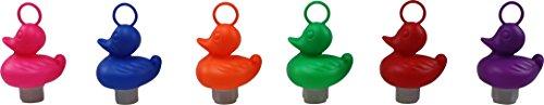 12 x Ente für Entenangeln BUNT (6 Farben) Plastikente mit Öse und Gewicht Angelente