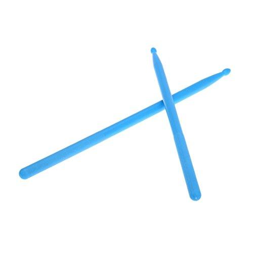 rosenice Drumsticks Drumsticks, Essstäbchen Extremität Nylon Box für die Zahnstocher leicht Profi für Trommel 1Paar (blau)