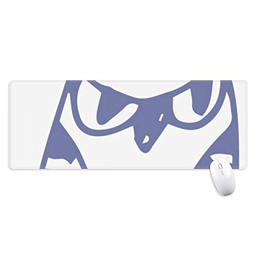 beatChong Karikatur-Hut-Vogel-Protect-Tier-Haustier-Liebhaber Griffige Mousepad Große Erweiterte Spiel Büro titched Kanten Computer-Mat Geschenk (Große Vogel-hut)