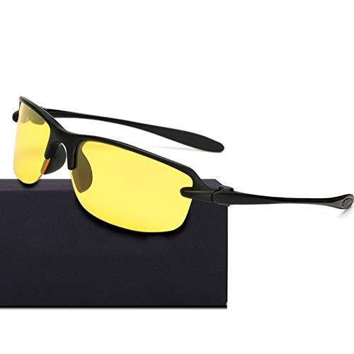 WBAHJNachtsicht Männer Schutzbrillen Sonnenbrillen Semi Randlose Polarisierte Sonnenbrille Square Mirror HD Lens UV400