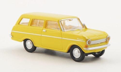 Opel Kadett A Caravan, gelb , Modellauto, Fertigmodell, Brekina Drummer 1:87