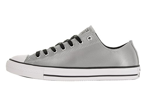Converse Chuck Taylor All Star OX Herren Synthetik Turnschuhe Silver/Black/White