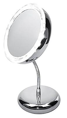 Kosmetikspiegel 360° mit Beleuchtung Schminkspiegel Tischspiegel Standspiegel Spiegel beleuchtet tragbar
