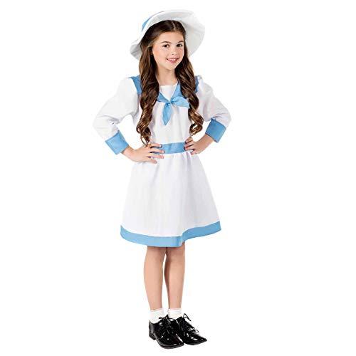 Edwardian Kinder Kostüm - Fun Shack FNK4587S Kostüm, Edwardian Girl, Größe S