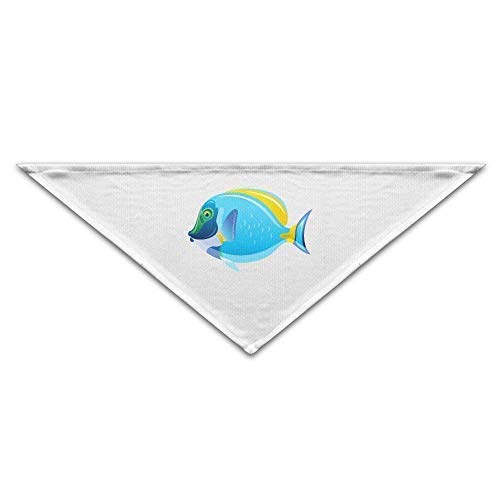 Gxdchfj Fish Clip Art Triangle Pet Scarf Dog Bandana Pet Collars for Dog Cat - Birthday Bandana Bibs Triangle Head Scarfs Accessories