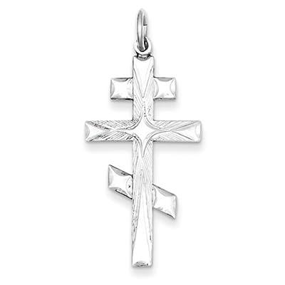 IceCarats Designer Schmuck Sterling Silber Russisch-orthodoxen Kreuz Anhänger