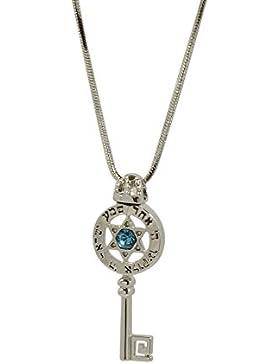 Silber Davidstern Halskette mit Shema Israel Gebet - Unisex
