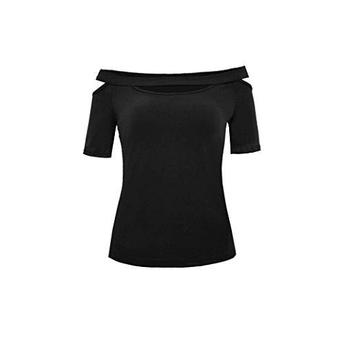 Un Hombro Camisetas para Mujer, Covermason Blusa de Manga Corta...