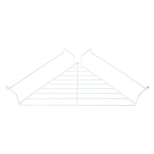 kofun-Metall Aufhängen Kabine Eckregal Floating Kabine Wand Organizer Display Rack, Eisen, weiß, 28x28x40 cm/11.02x1.02x15.75