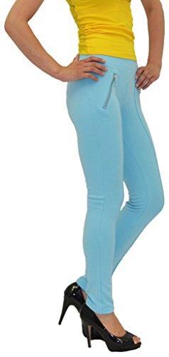 by-tex Damen Treggings Hose Stretch Röhrenhose Skinny Treggings Damen Hose in 6 Farben L14 Türkis