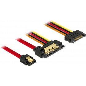7-pin Sata Stecker (DeLock Kabel SATA 6 Gb/s 7 Pin Buchse + SATA 15 Pin Strom Stecker > SATA 22 Pin Buchse gerade Metall 30 cm)