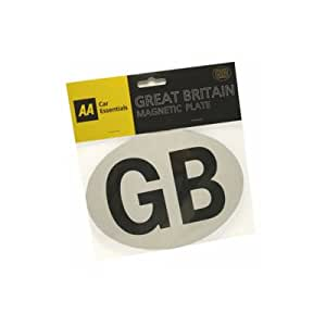 AA Magnetic GB Badge, Brown, One Size