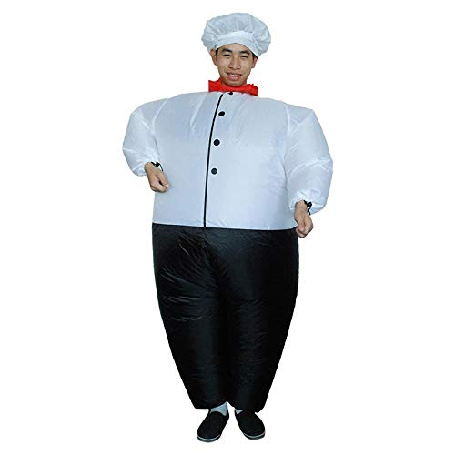 Kostüm Koch Erwachsene Für - Meixiang Halloween Kostüm Halloween-Kostüm, Aufblasbarer Anzug des Dinosauriers, Urlaubsparty-Showkleidung, Koch