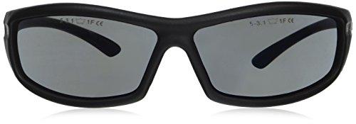 Bolle Solis Flash Solflash Sicherheitsbrille, Blue Flash Shaded Lens.