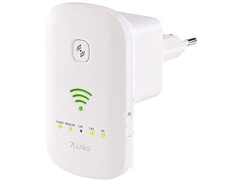 7links–Repetidor de red: de doble banda Wi-Fi Repetidor, Access Point & Router, 1200Mbit/s, tecla de WPS (Wi-Fi Repetidor con WPS de Buttons)