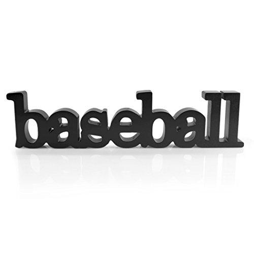 chalktalksports Baseball Holz Worte   Regal und Schreibtisch Dekor   Holz Schild, schwarz (Worten Dekor Hause)