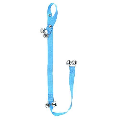 Dog Puppy Door Handle Doorbell Rope Alarm Bells Pet Home Training Tool - Sky Blue 2 Bottom Bells ()