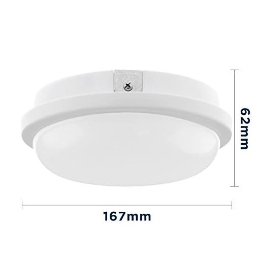 LED rotonda circolare Lampada da soffitto, Downlight, applique da parete, Illuminazione interna, Hall Soggiorno Cucina Camera da letto bagno, illuminazione esterna giardino pensile portico garage (15)