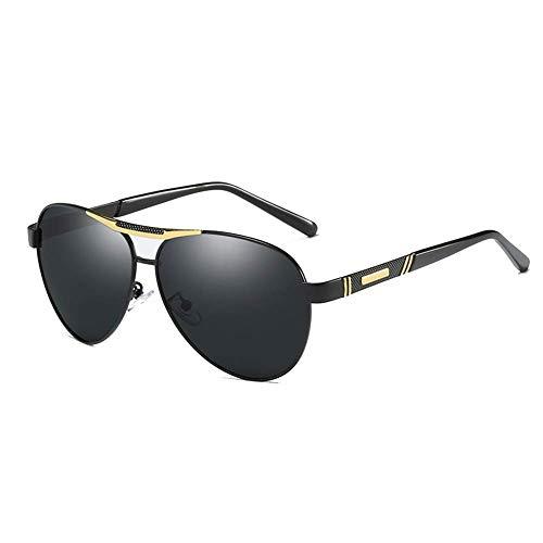GEETAC Polarisierte Pilotenbrille für Männer UV 400 Schutz Fahren Angeln Golf Mode Herren Sonnenbrille,Gold