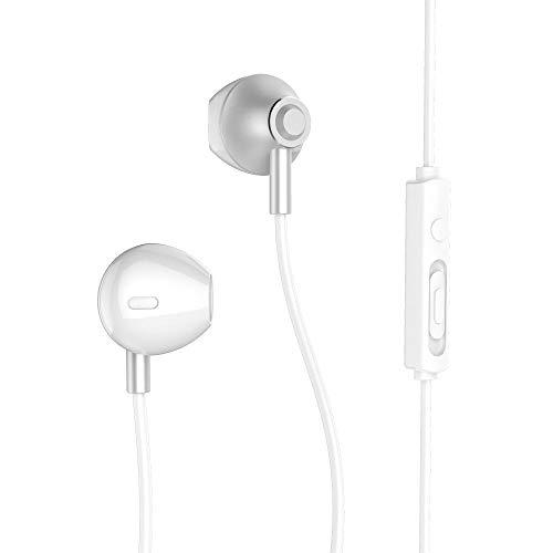 Remax 711 - Auricolari in-ear con cavo, cancellazione del rumore, alla moda Infradito colorati estivi, con finte perline
