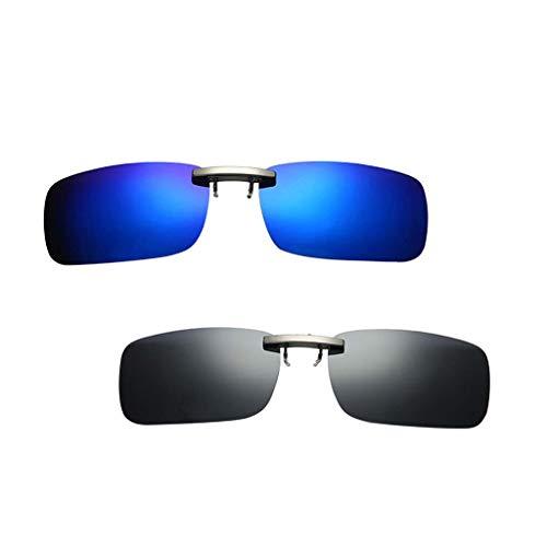 IPOTCH 2 STK. Polarisierte Sonnenbrille Aufsatz Clip für Frauen und Männer, UV400-Schutz