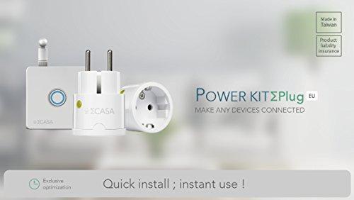 Sigma Casa Smart Power Kit – Einstieg für Smart-Home Haus-Automatisierung mit Smart Gateway und 2x Smart Power Plug – intelligente Steckdose (Messung Energieverbrauch) als Zeitschaltuhr oder zur Fern-Steuerung Ihrer Haushaltsgeräte - 2