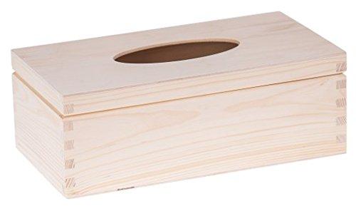 Amazinggirl Holz Taschentuchbox Kosmetiktücherbox Taschentuchspender Tücher Box Tissue Kosmetiktuchspender Kleenexbox Tücherbox Holz ZUM BEMALEN
