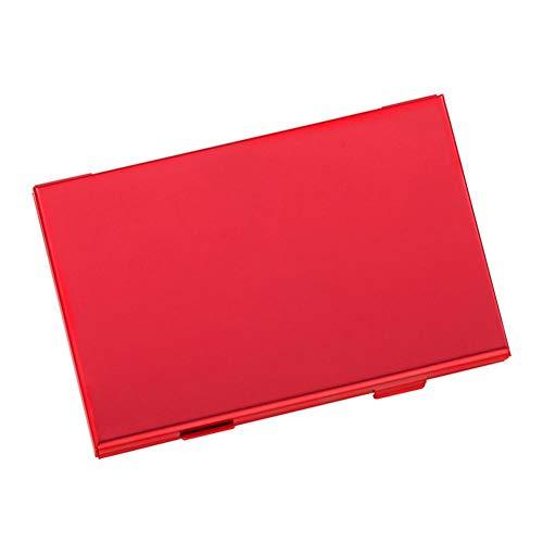 Rikey Game Card Box für Switch Mainframe Holder Aluminium Alloy Storage Card Case 红色 -