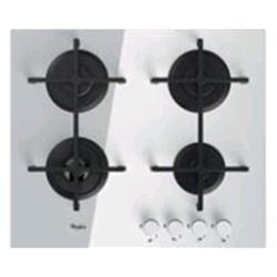 Whirlpool Goa 6423/WH Plaque – Plaque (intégré, gaz, verre, rotatif, partie supérieure avant, 230 V) Blanc