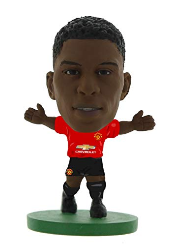 SoccerStarz SOC1095 Man Utd Marcus Rashford-Home Kit (2019 Version) /Figures, Green