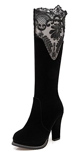 Easemax Femme Sexy Cuissarde Talon Haut Bout Rond Bottes