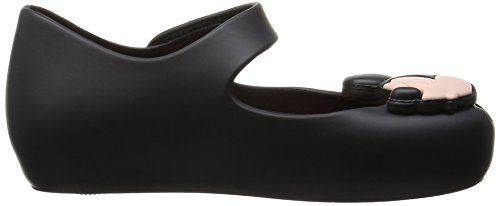 MINI MELISSA -Ballerine noire en MELFLEX plastique, une gomme parfumée, fille, filles Noir