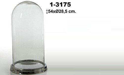 DonRegaloWeb - Campana de cristal transparente con base de metal decor