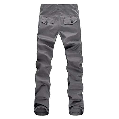 Dwevkeful GeschäFt Freizeitthose Herren Arbeitshose Kurz Bermuda Casual ReißVerschlusstasche Lange Hosen Slim Fit Wesentlich Leicht Solid Straight