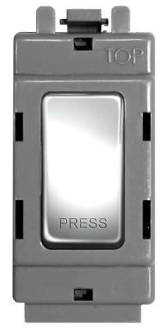 BG Electrical GPC14 Nexus Grid Polished Chrome 2 Way &