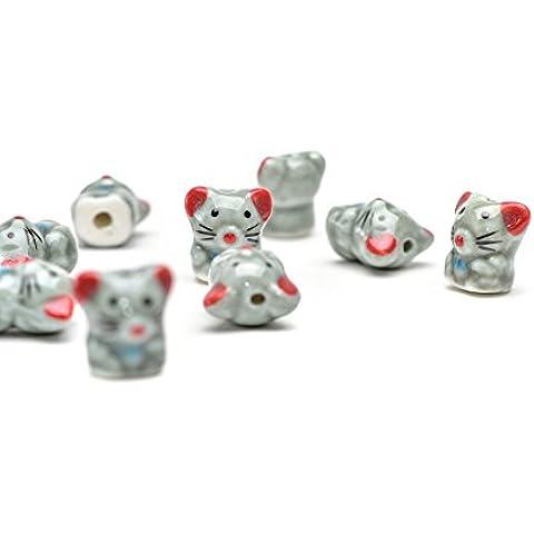 Perline Illimitato 17 x 16 x 13 mm topo modello
