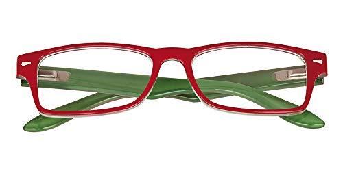 El Charro Occhiali da Lettura Modello Kansas Rosso/Verde, Diottria +1-1 Prodotto