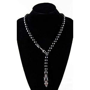 Kette für Herren Männer Handmade Halskette Perlenkette aus Onyx Steinen Edelstahl Geschenke