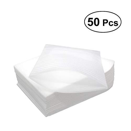 SUPVOX 50 Unidades 30 x 40 cm Espuma cojín Wrap Bolsas Taza Platos cristalería Porcelana Muebles Embalaje Suministros mudanza Almacenamiento