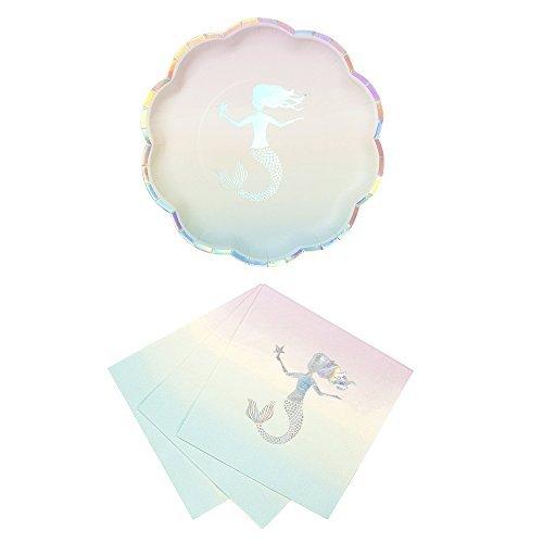 Talking Tables We heart, Meerjungfrauen-Motiv, für Geburtstage, Braut-Dusche, Party-Pappteller, Servietten und