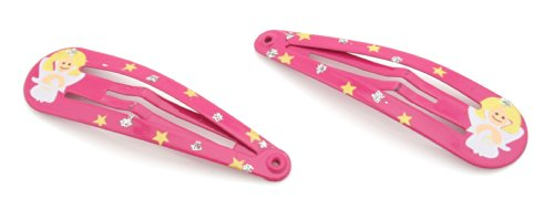 2 Hot Pink Christmas Angel Hair Clips Slides by Zest by Zest Hot Pink Slide