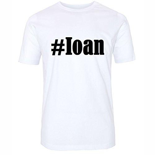 T-Shirt #Ioan Hashtag Raute für Damen Herren und Kinder ... in den Farben Schwarz und Weiss Weiß