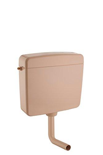 Hochwertiger Universal WC-Spülkasten | Aufputz-Spülkasten | 6-9 Liter | Toilettenspülkasten | EURO 2000 | Schwitzwasserisoliert | Spül-Stop-Funktion | 5 Jahre Garantie | (Spülkasten Bahamabeige)