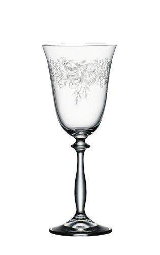 Bohemia Cristal 093 006 013 Weinkelche ca. 250 ml aus Kristallglas 6er Set Romance