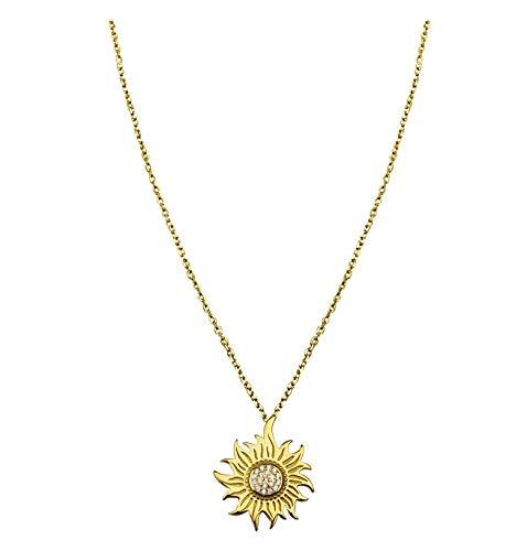 SOFIA MILANI Damen Halskette Stern Sonne Anhänger Silber vergoldet 50217 (Sonne Halskette)