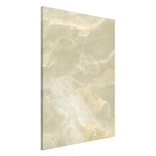 Bilderwelten Magnettafel - Onyx Marmor Creme - Memoboard Hoch Wandbild Magnettafel Pinnwand Magnetboard Magnetpinnwand Magnetwand Stahl Küche Büro, Größe HxB: 90cm x 60cm