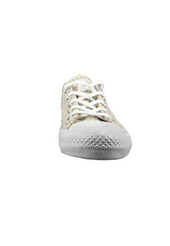 Converse Chucks 555878C Chuck Taylor All Star Gemma Festival Knit OX - Rope White Mouse Beige Rope White Mouse