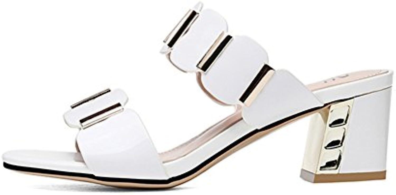 CAI Chaussures Pantoufles de Femmes Artificielle PU Confort d été  Pantoufles Chaussures Sandales Chaussures de e8df31f8971