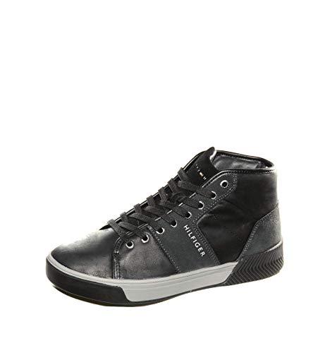 Tommy hilfiger sneaker nera fm0fm01680 nero, 44