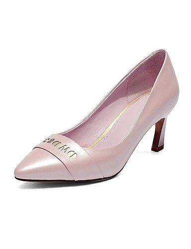 WSS 2016 Chaussures Femme-Bureau & Travail / Décontracté-Bleu / Rose / Blanc-Gros Talon-Talons / Bout Pointu-Chaussures à Talons-Cuir white-us8 / eu39 / uk6 / cn39